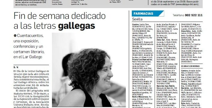El Lar Gallego de Sevilla celebra el Día de las Letras Gallegas 2017