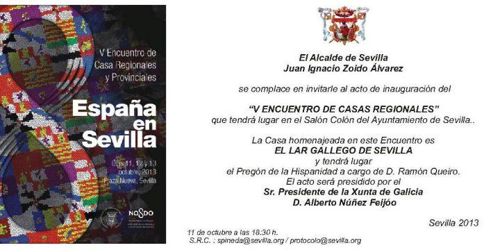 V Encuentro de Casas Regionales y Provinciales de Sevilla