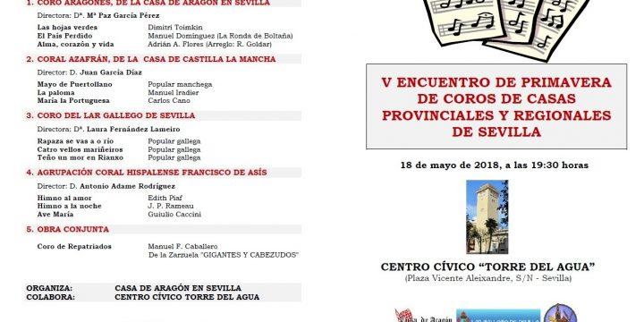 V Encuentro de Primavera de Coros de Casas Provinciales y Regionales de Sevilla