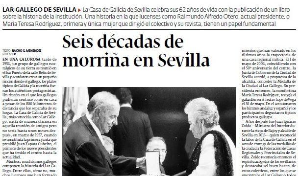 Anduriña, La Voz de los Gallegos en Sevilla – Progreso de Lugo