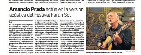 Fai un Sol Acústico en el Diario de Sevilla