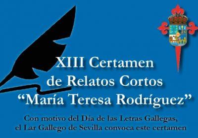 """Se convoca el XIII Certamen de Relatos Cortos """"María Teresa Rodríguez"""""""