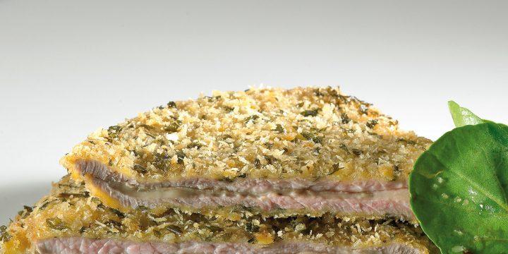 Receta de Taky, Chef de Ternera Gallega – Milanesa de Ternera Gallega con Berenjena y queso San Simón