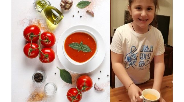 Nuestra pequeña gran Chef, Arantxa, nos trae su receta de Gazpacho Andaluz